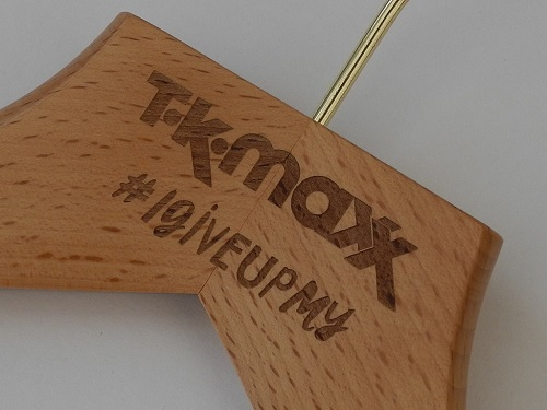 Laser Engraved Clothes Hangers, UK