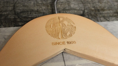 Laser Engraved Coat Hanger - Art Gallery Clothing