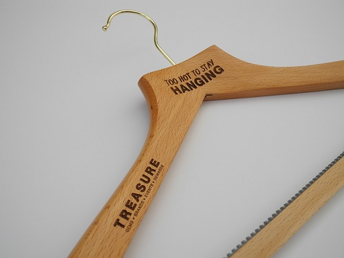 Laser Etched Wooden Coat Hangers