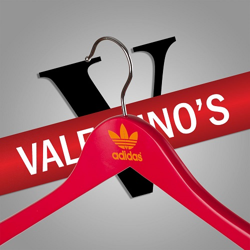 Red Painted Clothing Hanger - Adidas Branded Logo