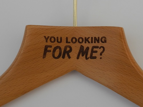 Laser Etched Clothes Hangers