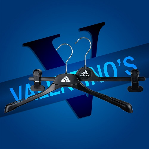 Branded, Custom, Printed Coat Hangers for Adidas