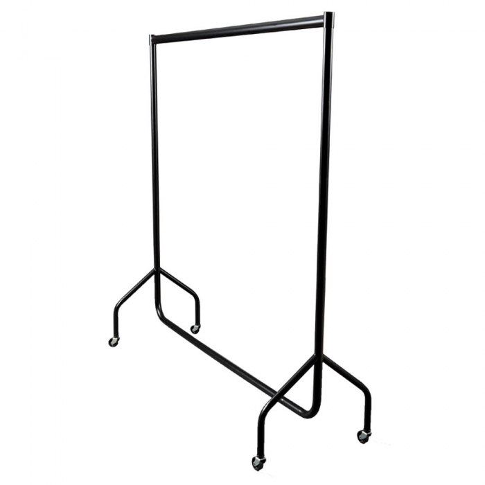 3ft Black Clothes Rail Hanging Rail Commercial
