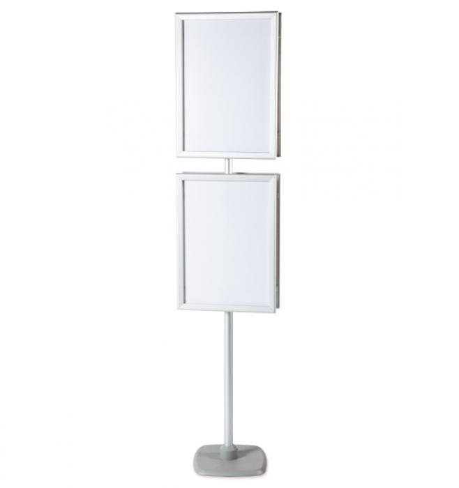 A2 Pole Amp Frame Display Stands 2 Poster Frames
