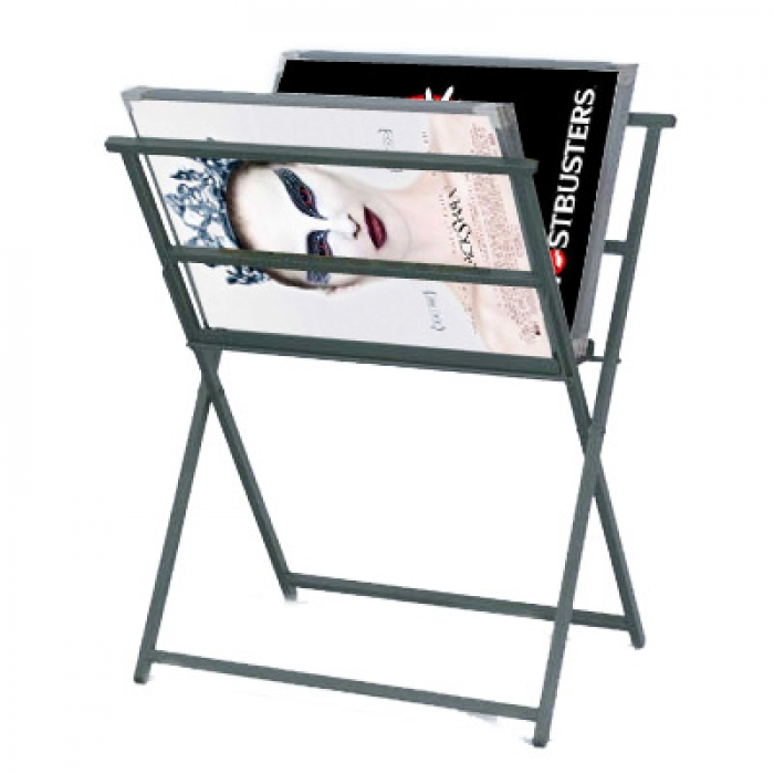 Foldaway Poster Display Rack Display Stands For Prints