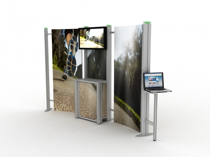 Modular Exhibition Stands Out : Modular display stands pop up uk