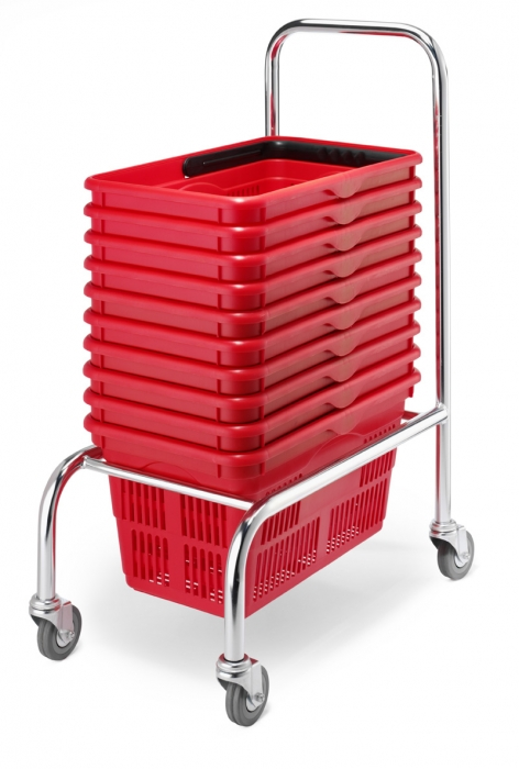 Shopping Basket With Wheels Wire Shopping Basket