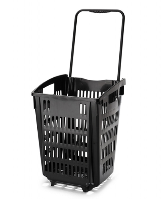 52 Litre Shopping Baskets On Wheels Pull Trolley