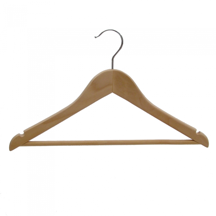 Wooden wishbone hangers with centre bar box of
