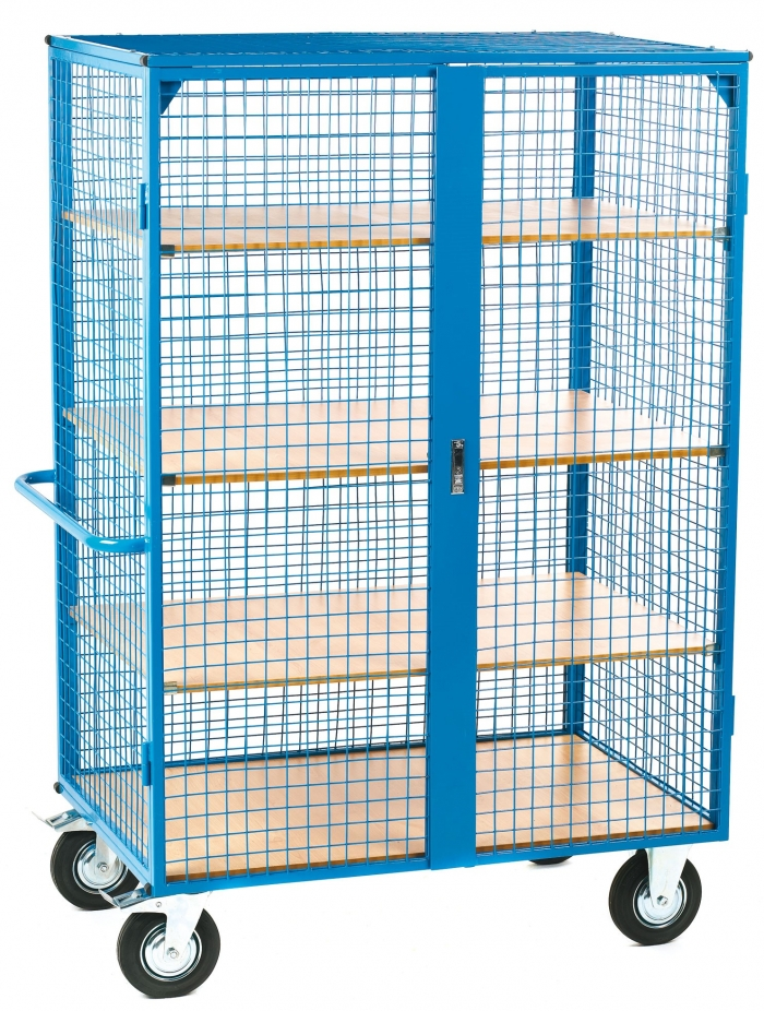 Heavy Duty Lockable Shelf Truck Roll Cage Uk