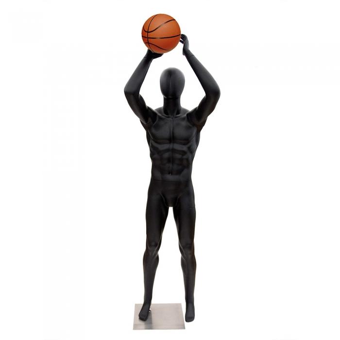 Male Black Matt Basketball Sports Mannequin | Valentino's