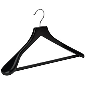 Black Wooden Suit Hanger 46cm Box Of 24