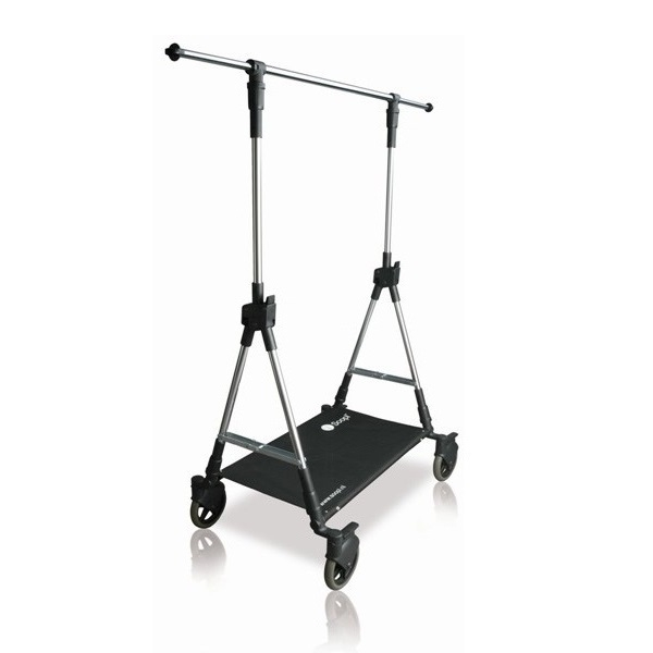 Collapsible Garment Clothes Rail And Fashion Trolley