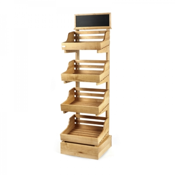 Four Tier Wooden Display Stand Valentino S