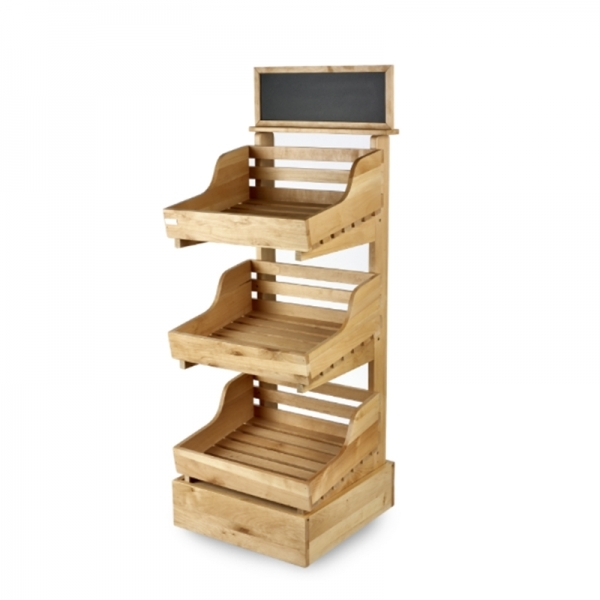 Three Tier Wooden Display Stand Valentino S