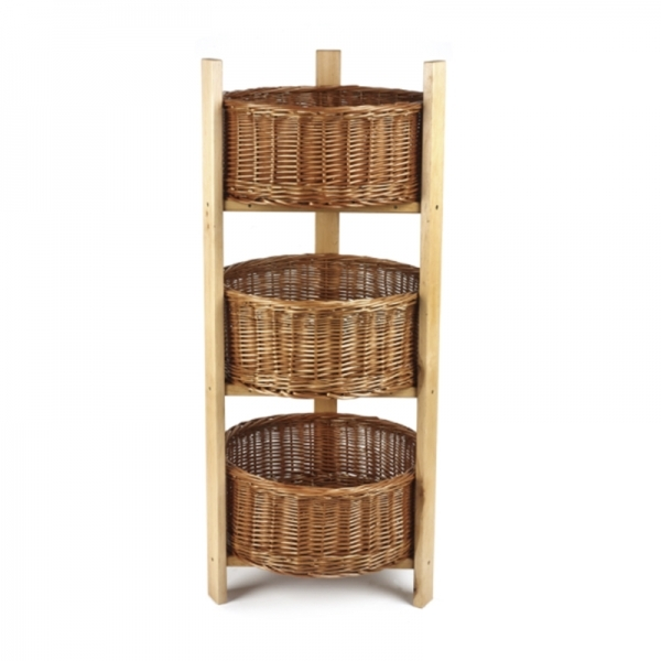 3 Tiered Stand With Baskets