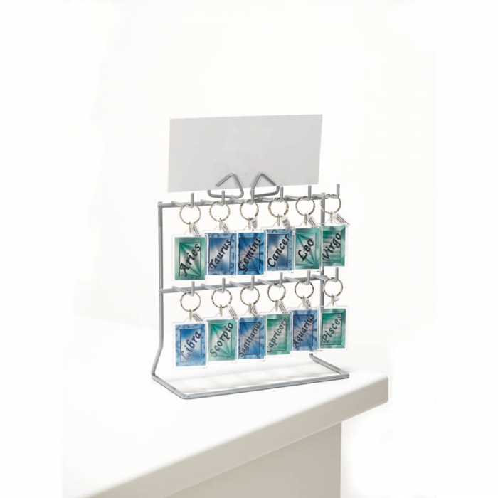 Counter Standing Keyring Display Keyring Stands Card