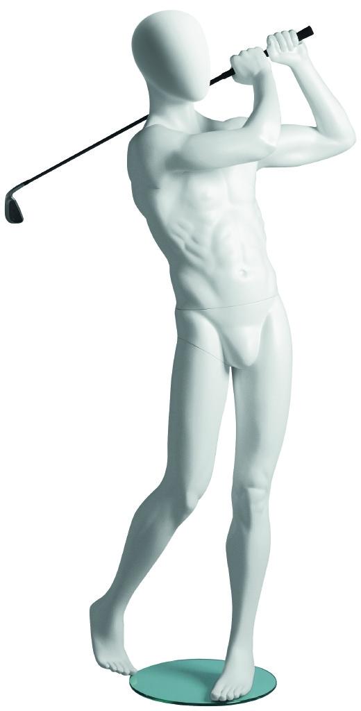 Male White Golfer Mannequin | Golfing Sport Mannequins