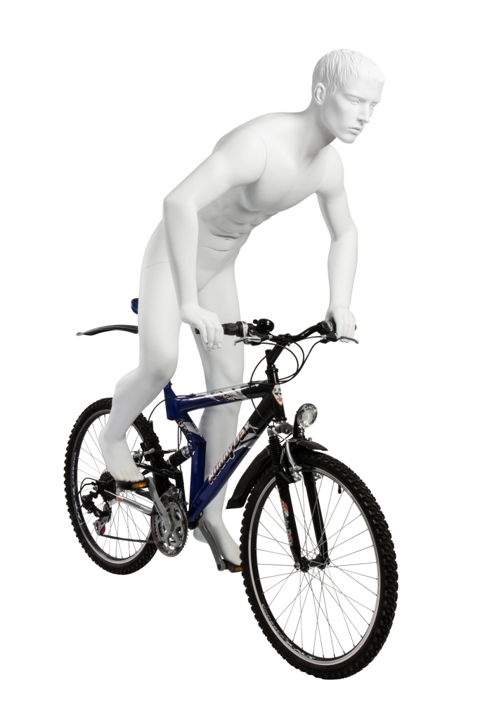 Male Cycling Mannequin