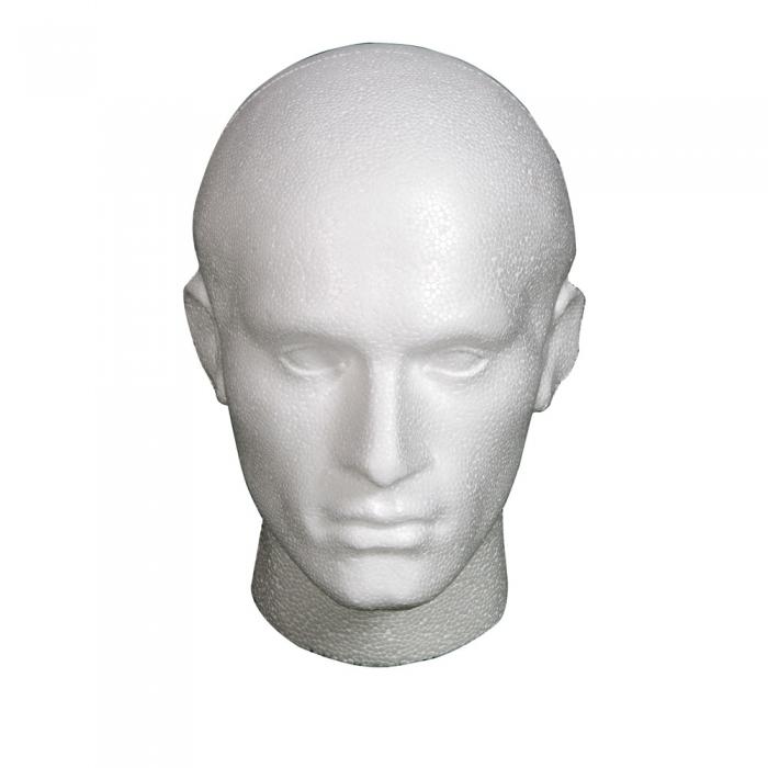 Polystyrene Skull Mannequin Heads Styrofoam Wig Form