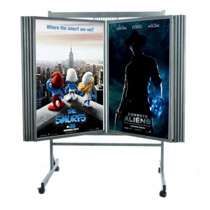 Buy Multi Panel Poster Display Cheap Poster Racks Displays