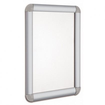 Eco Rounded Silver Frame A4 Display Posters Snap