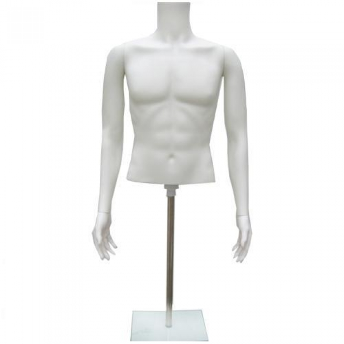 Half Mannequin Male Torso Mannequin Bust Form For Sale