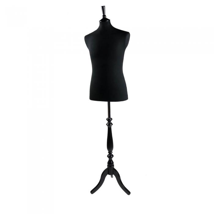 Male Dressmaker Mannequin Black 38 Inch Tailors Dummy Uk